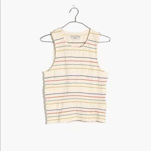 Madewell Texture & Thread Rainbow Stitched Tank